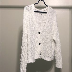 American Eagle Outfitters White Sweater Cardigan